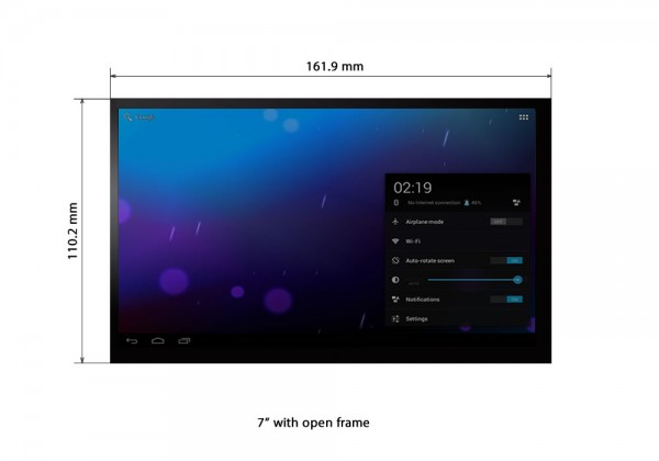 "7"" open frame touch LCD"